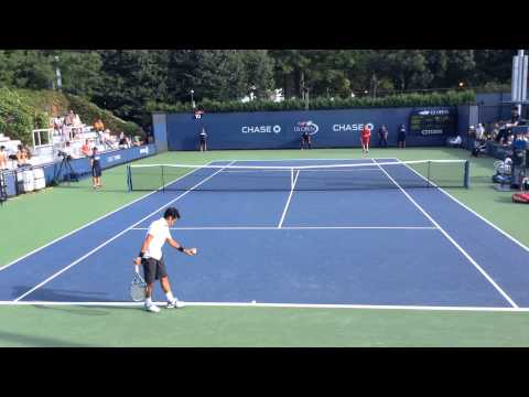 Rublev A(Rus) vs Sugita Y(JPN) -View-  6/3 6/4 QL2nd USOpen Tennis 27aug2015