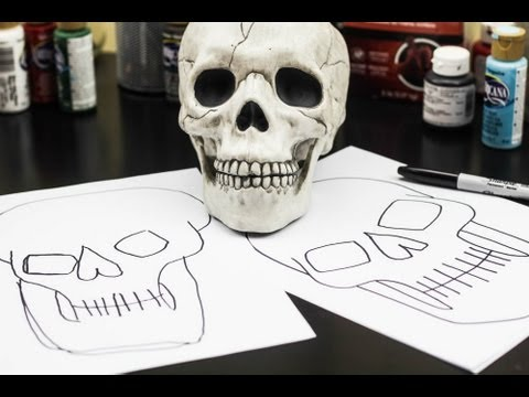 How To Draw A Skull (for kids)