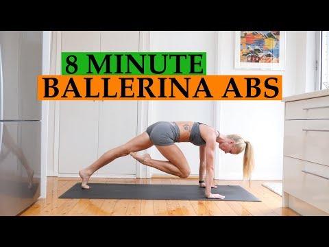 8 MIN BALLERINA CORE WORKOUT / TrainLikeaBallerina