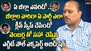 AP Exit Poll Specialist Abid Shaik Gives District Wise Survey Results in AP Elections | Mirror TV