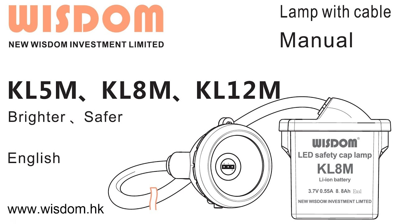 WISDOM Cap Lamp with Cable Manual (KL5M KL8M KL12M) (v1.0