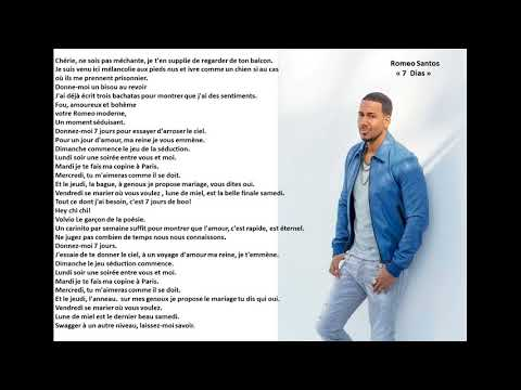 "Romeo Santos ""7 Dias"" Traduction Fr"