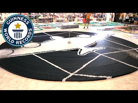 Most dominoes toppled in a circle - Guinness World Records