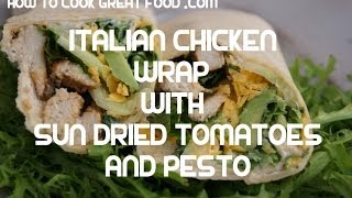 Italian Style Chicken & Rocket Wrap Recipe - Tortilla Kfc