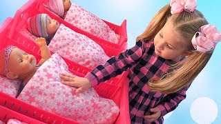 Diana pretend play with Baby Dolls, girl toys thumbnail