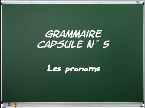 G5 - Les pronoms