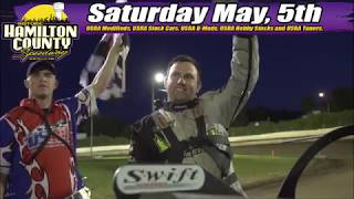 Golden Ticket Giveaway, Kids Night, Big Fish Challenge highlight May 5 grand opening at Hamilton County Speedway