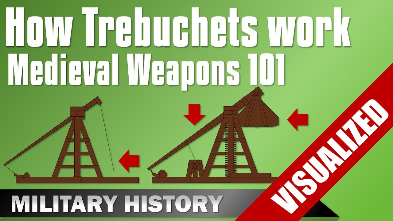 weapons 101 trebuchet how they work traction counterweight trebuchets medieval equipment [ 1280 x 720 Pixel ]