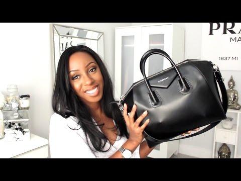 What's In My Bag   Givenchy Antigona Medium - ft. Prada sunglasses, Louis Vuitton agenda & more