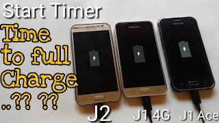 Samsung Galaxy J1 4g  6  Charging Test With Galaxy J2 And J1 Ace
