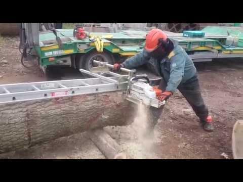 Chainsaw mill goodtool.   Eiche sägen