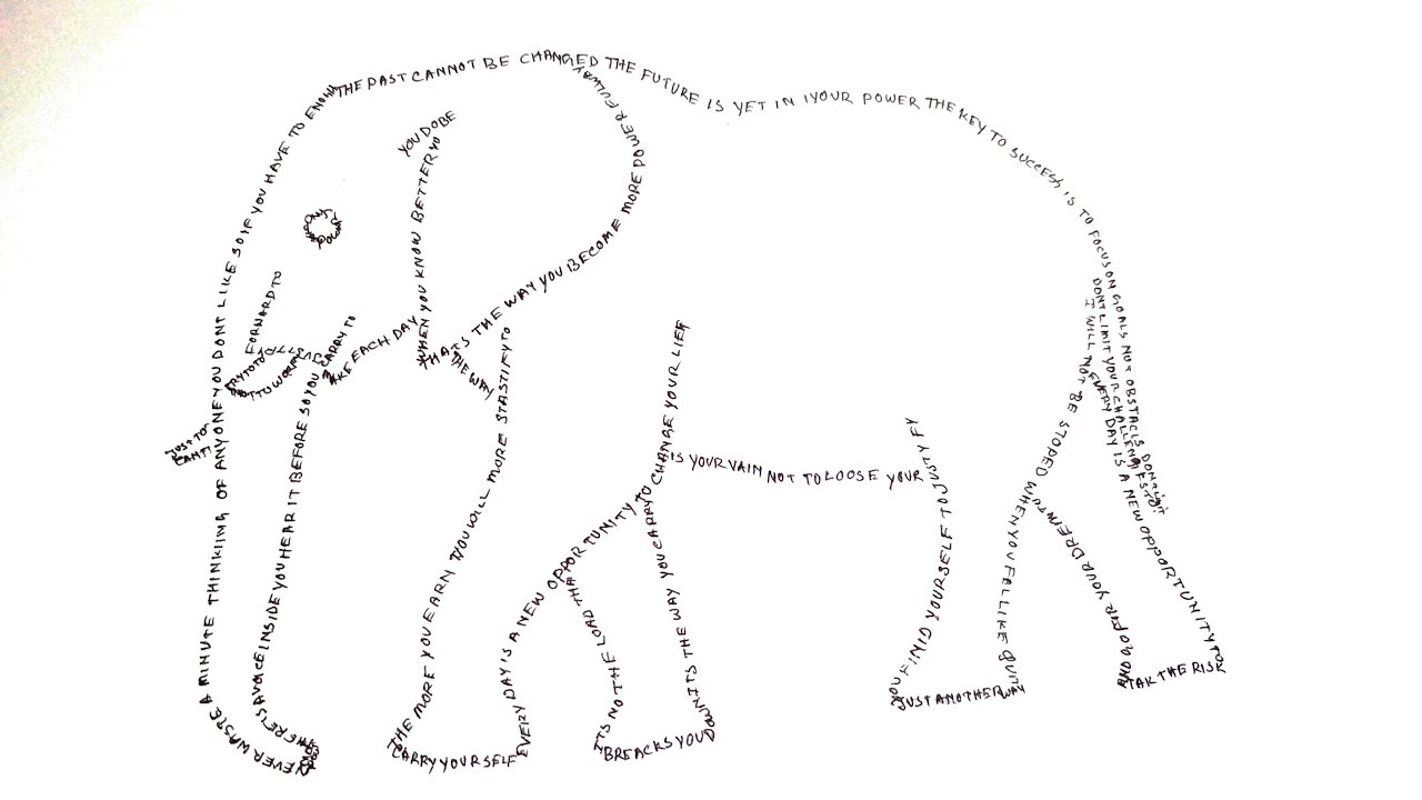 How to draw Elephant step by step easy for kids ...