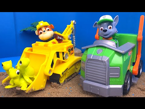 Patrulla Canina (Paw Patrol) Rubble rescata a Rocky tortugas - Adventure Bay Animal Rescue SET