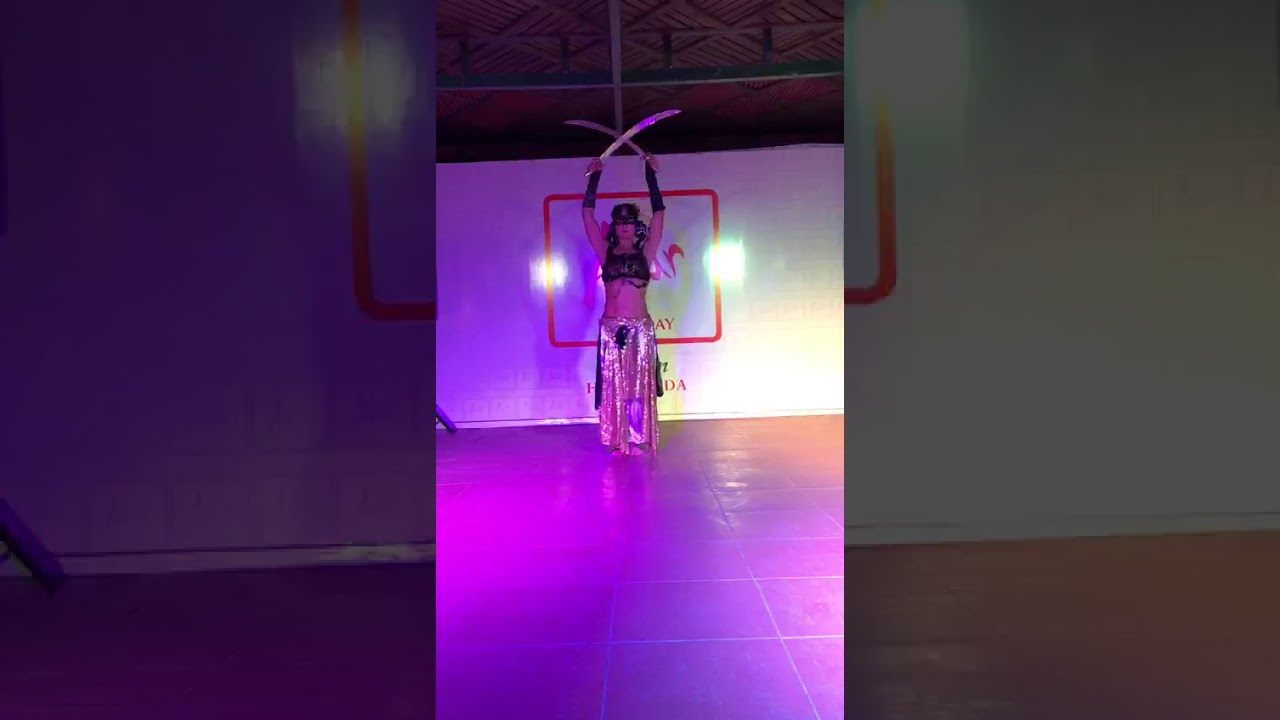 Tribal fusion belly dance live performance with double sword 2020