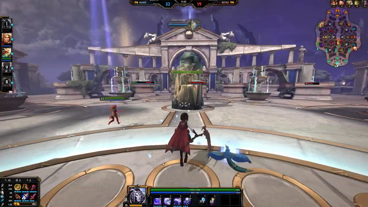 Smite Rwby Ruby Rose Vs Bots