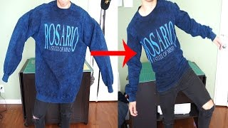 BAGGY THRIFTED SWEATER TO FITTED VINTAGE SWEATER | KAD transformation #19