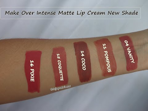 super-new-shade-4-11-14-15-16-review-&-swatches-make-over-intense-matte-lip-cream-terbaik