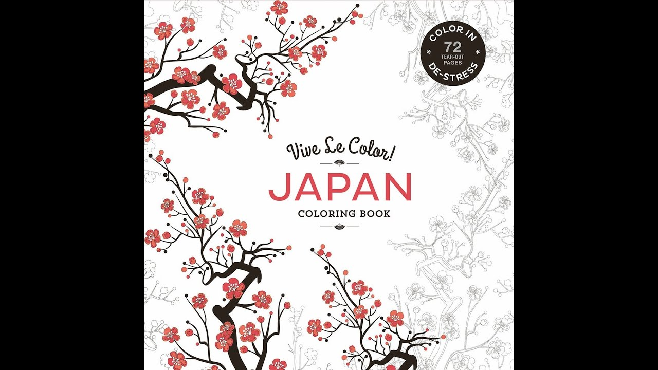 Flip Through Vive Le Color Japan Coloring Book By Abrams Noterie