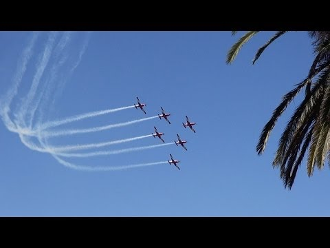 Air Force Roulettes Display - Australia Day 2014 Melbourne City