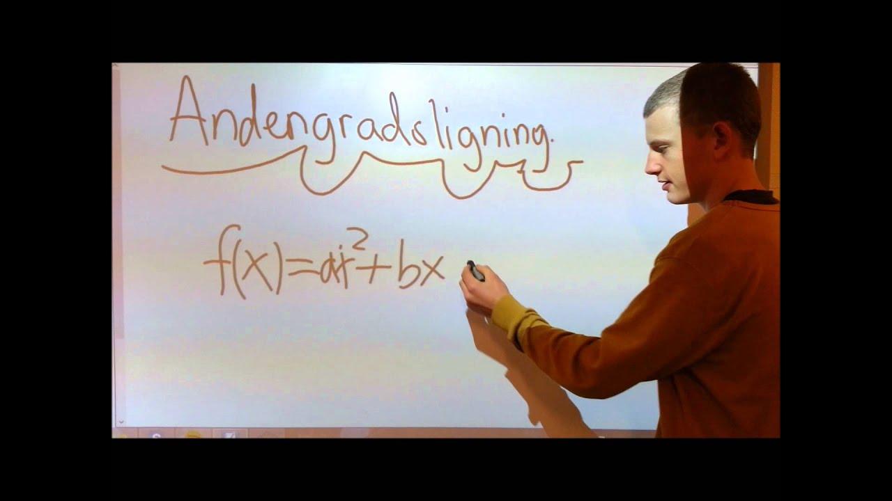 2. Grads ligninger