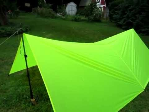 & DIY 8 by 10 silnylon tarp - YouTube