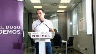 """Podemos """"no quiere elecciones"""" generales"""