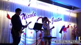 Lauren & Joseph KF - De Grands Wedding band (Chinese songs) Melaka, Malaysia.