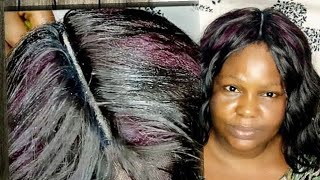 WIG MAKING WITHOUT A LACE  CLOSURE STRAW PATTERN.