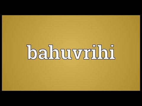 Header of bahuvrihi