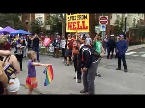 La niña que desafió a un predicador homofóbico