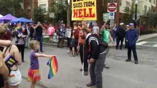 1st Grader Backs Down Homophobe Street Preacher