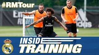 Real Madrid's first training session in Montreal!