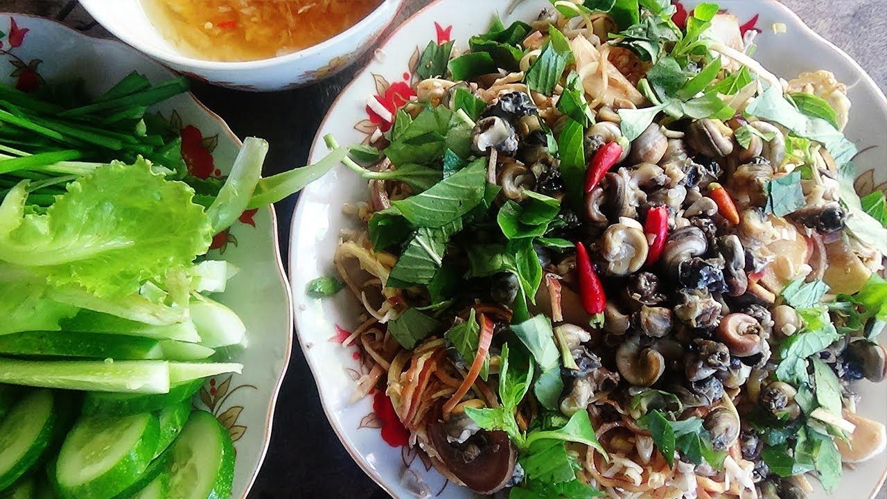 GỎI BẮP CHUỐI ỐC ĐẮNG Món Việt Kiều Thích Ăn | Toàn Miền Tây