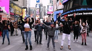 Bachata Flash Mob in Times Square with #JSQUARED