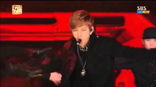 B.A.P Daehyun Epic High note @ SBS Gayo Daejun 2013