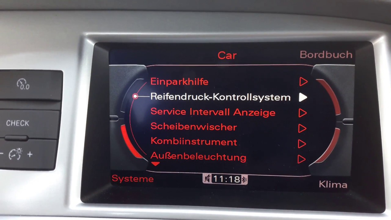 Audi A3 Sportback >> Reifendruck Reifendruckkontrollanzeige Audi A6 speichern zurücksetzen - YouTube