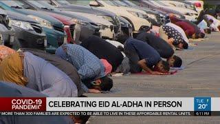 Muslims celebrate Eid al-Adha in person