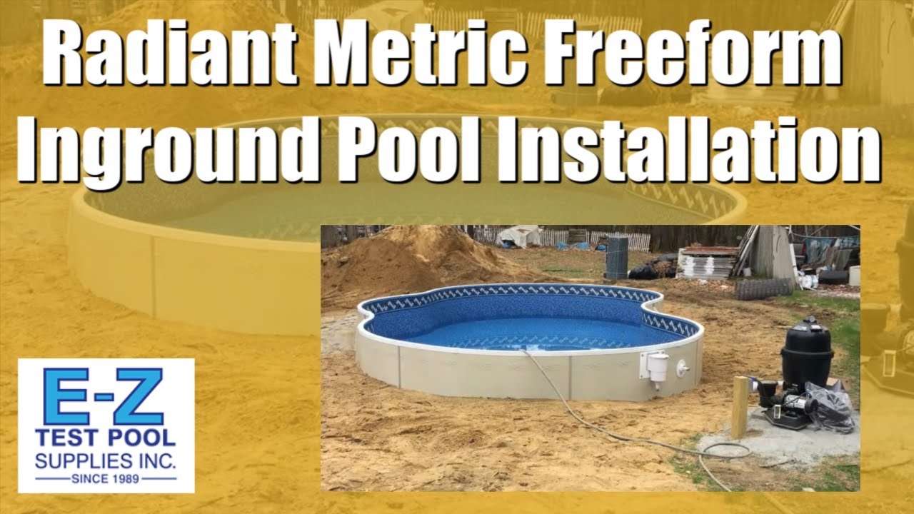 2017 Radiant Metric Series Freeform Inground Pool Install