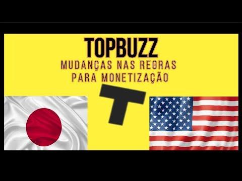 Topbuzz -- Mudanças dos cliques e monetização! (EUA e Japão)