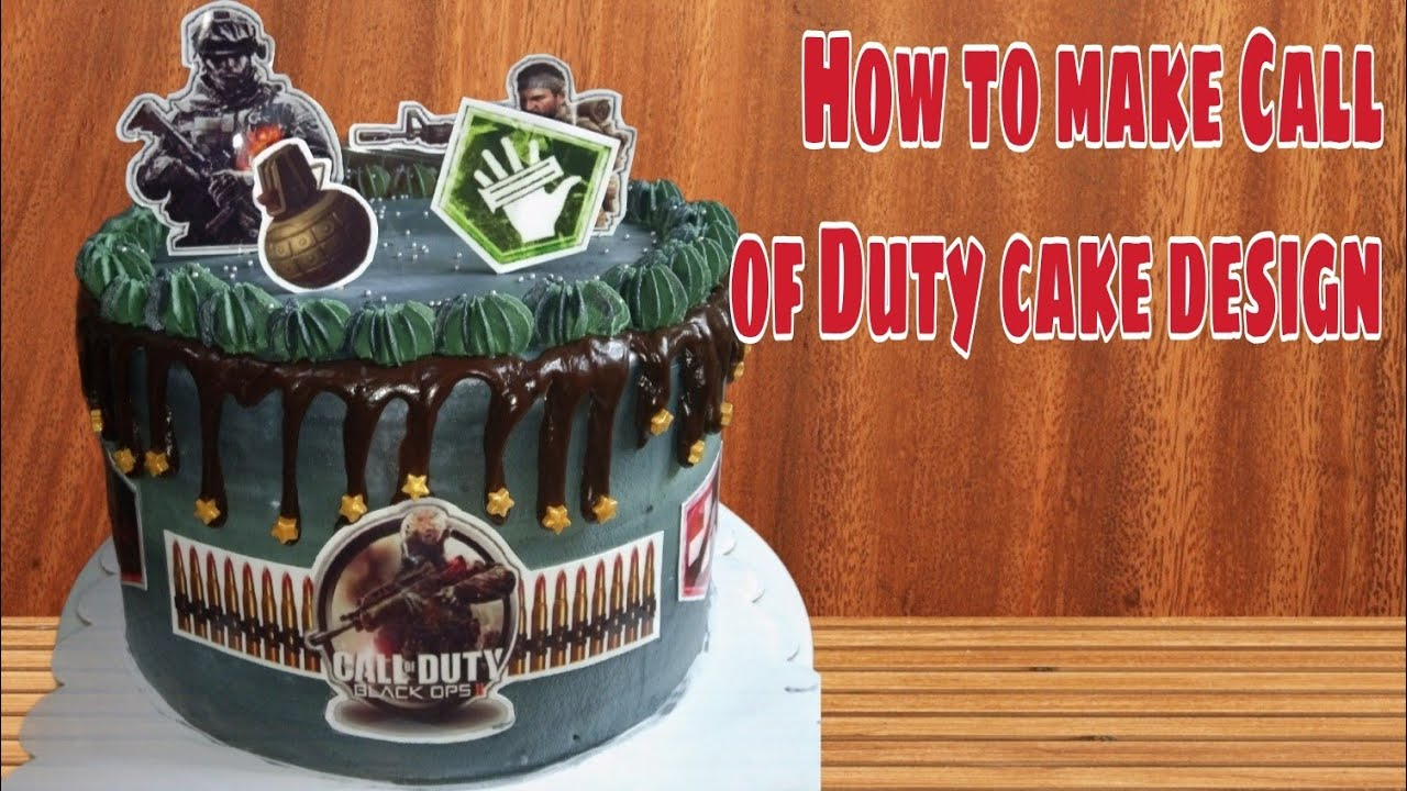 Call Of Duty Cake Design Kambal S Kitchen Youtube