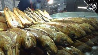 Рыбный рынок Якутии Отдел копченой рыбы Yakutia