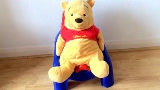 Kids Fun Learning - Potty Training for kids with Red And Blue Bear Potty Seat And Winnie The Pooh