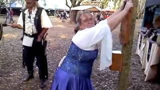 Renaissance Fair princess gets flogged.