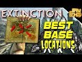 ARK EXTINCTION BEST BASE LOCATIONS - SMALL AND LARGE TRIBES!!