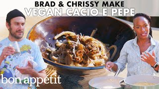 Brad and Chrissy Make Vegan Cacio e Pepe | From the Home Kitchen | Bon Appétit