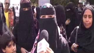 احتجاج موظفي جامعة عدن 15-01-2015