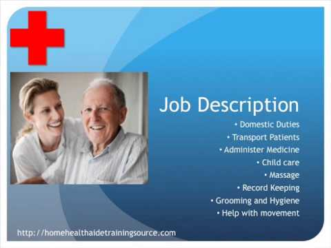 Home Health Aide Job Description and Salary YouTube