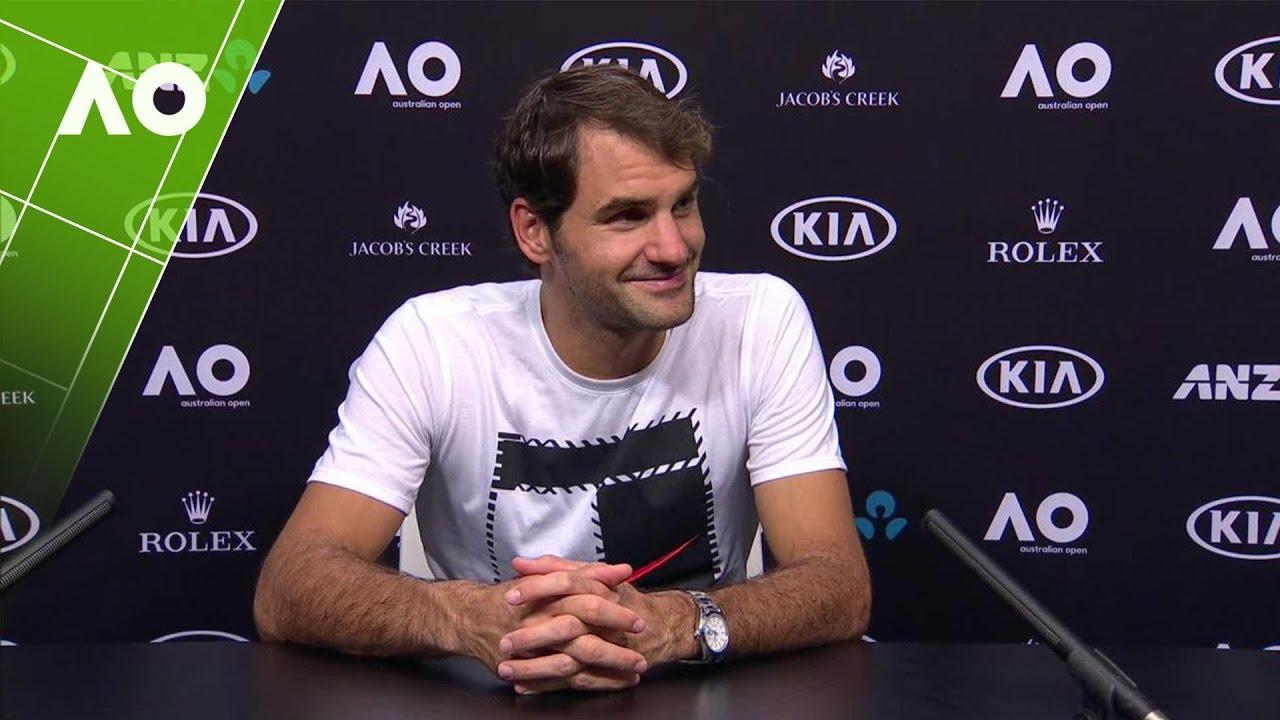 0a77a926 Roger Federer Press Conference (1R) | Australian Open 2017 - YouTube