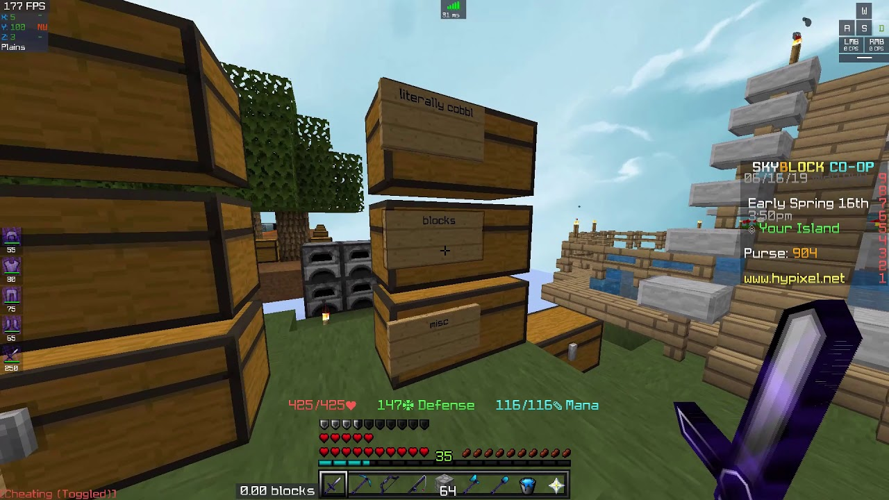 27 75 MB] Hypixel Skyblock #2 - 11 Minion Slots, Download