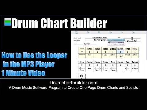 How to use the Looper in the MP3 Player in Drum Chart Builder